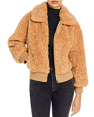 Rebecca Taylor La Vie Faux Shearling Jacket-Women