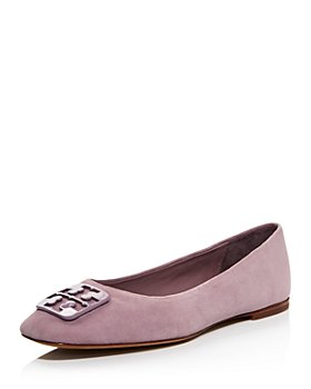 Tory Burch - Women's Square Toe Embellished Ballet Flats