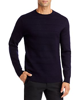 Theory - Gregson X Merino Wool Stripe Relaxed Fit Crewneck Sweater