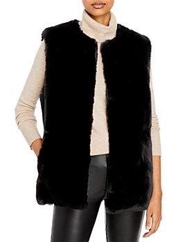 Surell - Rex Rabbit Faux Fur Vest