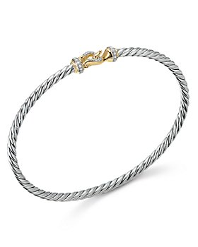 David Yurman - Cable Buckle Bracelet with 18K Yellow Gold & Diamonds