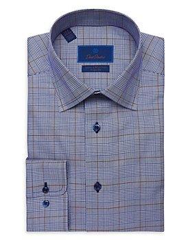 David Donahue - Glen Plaid Trim Fit Dress Shirt