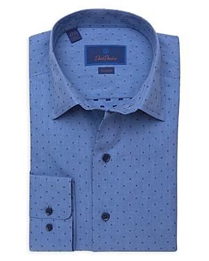 David Donahue Dobby Fusion Dress Shirt-Men