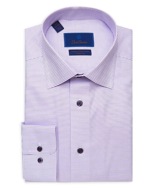 David Donahue Micro Luxury Non Iron Dress Shirt