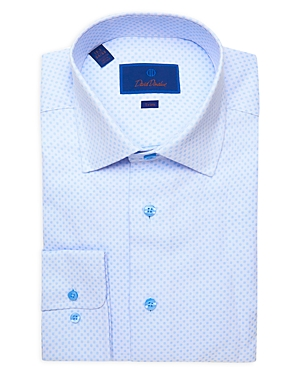 David Donahue Dot Trim Fit Dress Shirt-Men