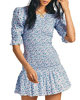 LoveShackFancy - Luppa Cotton Printed Mini Dress