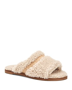Aquatalia - Women's Alina Shearling & Leather Slippers