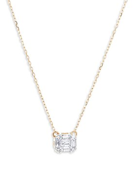 Adina Reyter - 14K Yellow Gold Diamond Mosaic Pendant Necklace, 16""