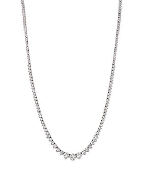 Bloomingdale's - Diamond Tennis Necklace in 14K White Gold, 5.0 ct. t.w. - 100% Exclusive