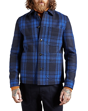 Ted Baker Wools DOUBLE FACED CHECK WORKWEAR JACKET
