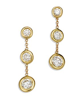 Roberto Coin - 18K Yellow Gold Diamond Drop Earrings