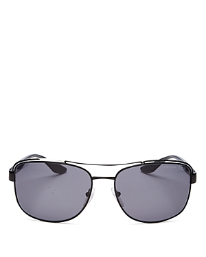 Prada Men\\\'s Pillow Brow Bar Aviator Sunglasses, 61mm
