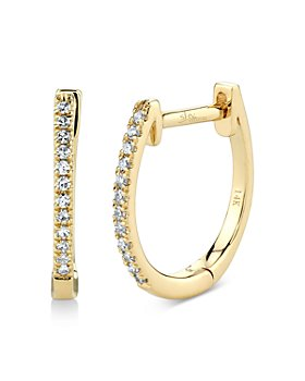 Moon & Meadow - 14K Yellow Gold Diamond Huggie Hoop Earrings - 100% Exclusive