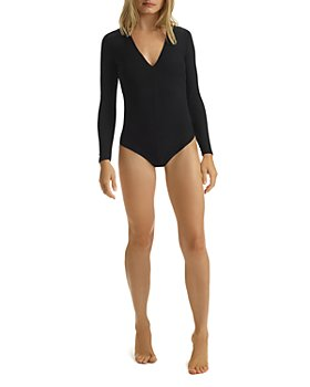 Commando - Butter Long Sleeve V-Neck Bodysuit