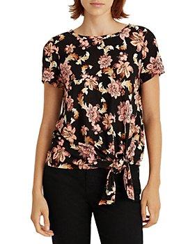 Ralph Lauren - Floral Print Tie Hem Top