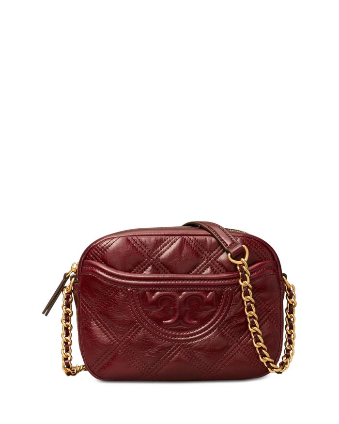 Tory Burch Fleming Mini Quilted Leather Camera Crossbody    Bloomingdale's