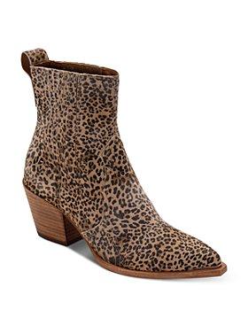 Dolce Vita - Serna Leopard Print Suede Booties