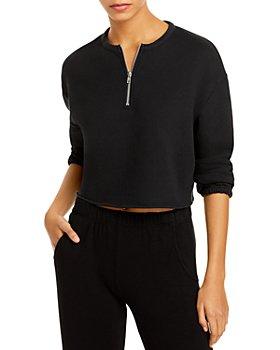 CHASER - Cotton Fleece Cropped Sweatshirt