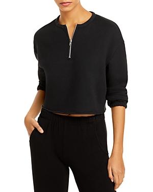 Cotton Fleece Cropped Sweatshirt
