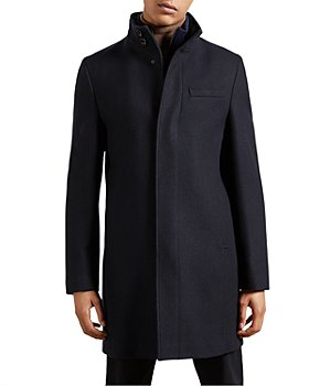Ted Baker - Wool Blend Funnel Neck Coat