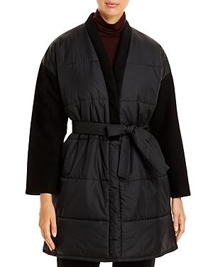 Eileen Fisher Coats CONTRAST-SLEEVE OPEN FRONT COAT