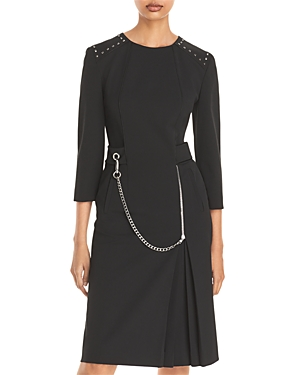 Alberta Ferretti Chain Fit-and-Flare Dress-Women