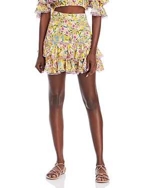 Fera Floral Print Ruffle Skirt