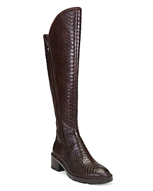 Donald Pliner WOMEN'S SOFFIE PYTHON EMBOSSED LEATHER TALL BOOTS