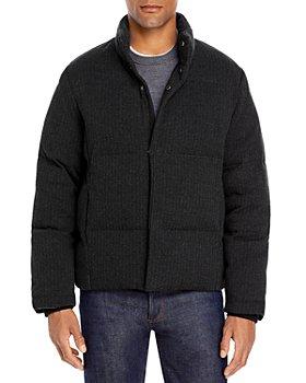 Vince - Slim Fit Quilted Herringbone Jacket
