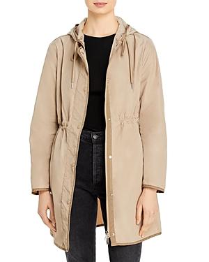 Moncler Lebris Hooded Drawstring Coat