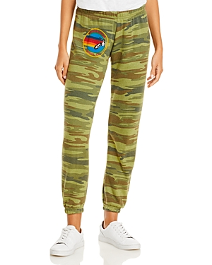 Aviator Nation Graphic Drawstring Sweatpants