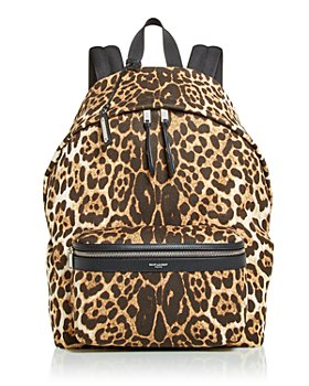 Saint Laurent - City Bag Leopard Print Backpack