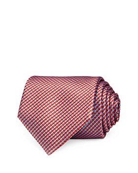 Ermenegildo Zegna - Geometric Scales Silk Classic Tie