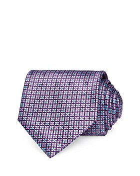 Ermenegildo Zegna - Mini Floret Grid Silk Classic Tie