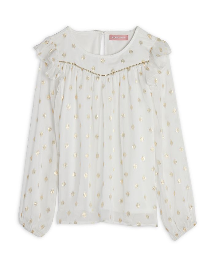 BCBG GIRLS - Girls' Metallic Print Chiffon Top - Big Kid