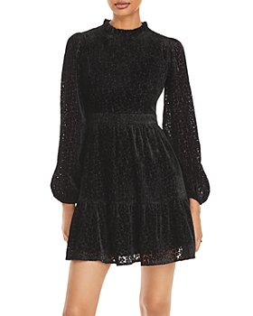 AQUA - Velvet Burnout Dress - 100% Exclusive