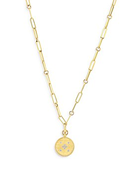 Roberto Coin - 18K Yellow Gold Venetian Princess Diamond Medallion Lariat Necklace, 19""