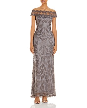 Tadashi Shoji - Illusion Off-The-Shoulder Lace Gown