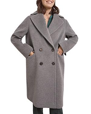 Sandy Double-Breasted Alpaca-Blend Coat