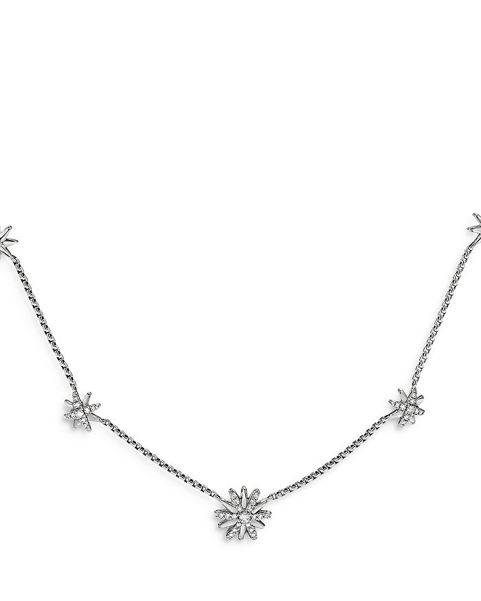 "David Yurman - Starburst Station Necklace with Diamonds, 16"""