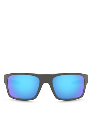 Oakley Men\\\'s Drop Point Polarized Rectangle Sunglasses, 61mm-Jewelry & Accessories
