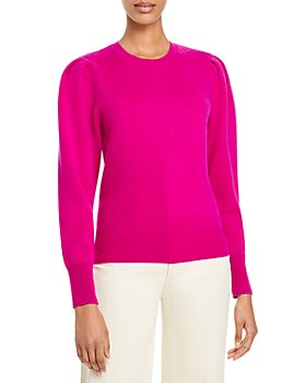 AQUA - French Terry Cashmere Puff Sleeve Crewneck Sweater - 100% Exclusive