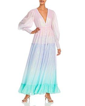 Rococo Sand - Emi Metallic Ombré Long Dress