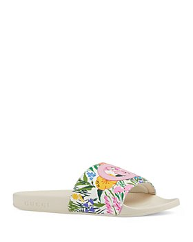Gucci - Women's Pursuit Floral Print Slide Sandals