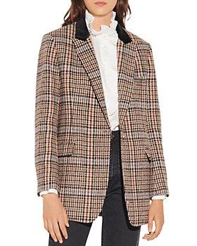 Sandro - Daly Checkered Tweed Blazer