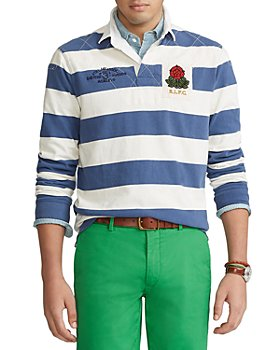 Polo Ralph Lauren - Cotton Jersey Stripe Classic Fit Long Sleeve Rugby Shirt