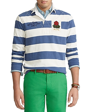 Polo Ralph Lauren Downs COTTON JERSEY STRIPE CLASSIC FIT LONG SLEEVE RUGBY SHIRT