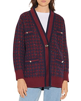 Sandro - Margot Checkered Cardigan