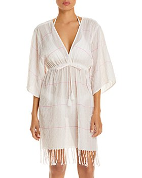 Tory Burch - Striped Cover Up Tunic
