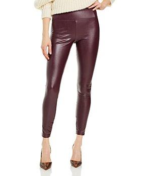 AQUA - High-Rise Faux Leather Leggings - 100% Exclusive
